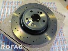 New GENUINE RENAULT SPORT Megane II RS 225 230 R26 front DRILLED brake disc Brem