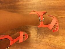 Women's High Heels Size 5 38 Patent Coral Atmosphere T Bar
