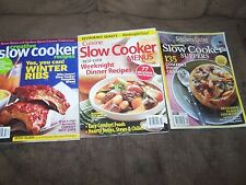 Set of 3 Slowcooker Magazines Looks like never used MSRP $42.00
