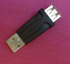 25 x USB A (Male) to USB A (Female) Extender, Joiner, Connector, Converter Black