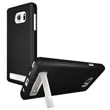 Prodigee Kick Slider Black Galaxy Note 5 Case Thin Slim Stand 2 Piece Cover