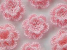 """100! Double Crochet Lana Flores-melocotón pálido Flor Rosa - 2,5 cm/1 """""""