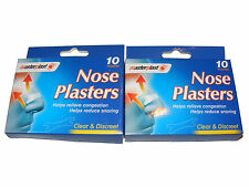 20 PACK CLEAR SNORE FREE NOSE PLASTERS ANTI STOP SNORING AID / CONGESTION RELIEF
