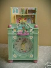 vintage POLLY POCKET clock play set compact with doll