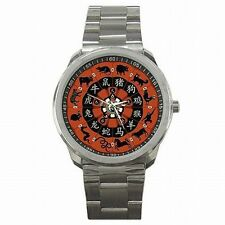 Chinese Lunar Calendar Year of Zodiac Animals Stainless Steel Sport Watch New!