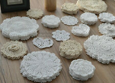 Lot 72 Hand Crochet Round Doilies Floral Snowflake Wedding
