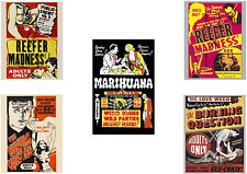 Reefer Madness Poster Set - Set of 5 Vintage anti-marijuana film posters