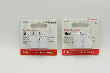 2 Pack Radio Shack Quick-Connect Modular Jack 279-252