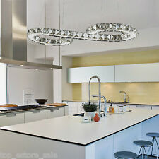 ModernLight Crystal LED Chandelier Pendant Lamp Ceiling Fixture Home Lighting US