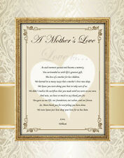 Mother Gifts Love Birthday Wedding Son Daughter 11x14 Unframed Matted Mom Thanks