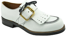 $650 PRADA White Leather MONK STRAP Oxfords Dress Shoes 44 / 10 LIMITED EDITION
