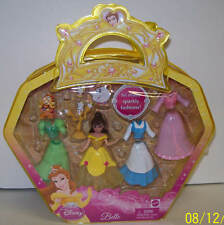 Disney Princess Belle Polly Pocket Doll Giftset NEW with Bag Mattel 2009