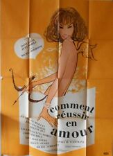 COMMENT REUSSIR EN AMOUR French Grande movie poster 47x63 EDDY MITCHELL 1962