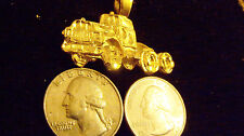 bling gold plated freight truck cab pendant charm chain hip hop necklace jewelry