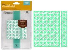 "CUTTLEBUG ProvoCraft CANE BACK CHAIR Embossing Folders 5"" X 7"" & BORDER"