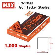 MAX T3-13MB (13mm) Gun Tacker Staples for MAX TG-A & TG-D Gun Tacker Stapler