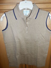 OUTER BANKS LADIES POLO GOLF COLLARED SHIRT TAN SZ SMALL CASUAL GOLF NEW