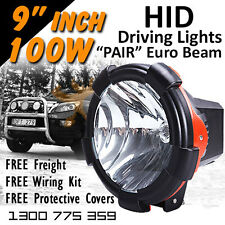 HID Xenon Driving Lights - 100w PRO 9 Inch Euro Beam 4x4 4wd Off Road 12v 24v