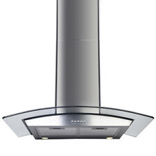 "30"" Range Hood Kitchen Wall Mount Stainless Steel Glass Stove Vents  USA St"