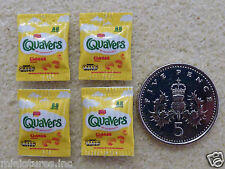 """FOUR PACKETS of DOLLS HOUSE MINIATURE """"QUAVERS""""  Handmade 1:12th Scale"""