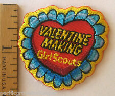 Girl Scout GSUSA VALENTINE MAKING Fun PATCH Day Card Crest Badge Troop Event NEW