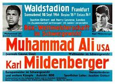 Muhammad Ali vs Mildenberger - LARGE POSTER  - 1966 Heavyweight BOXING Fight U.K