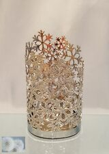 BATH & BODY WORKS SILVER GLITTER SNOWFLAKE FOAMING HAND SOAP SLEEVE HOLDER COVER