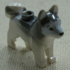 LEGO NEW ARTIC HUSKY DOG WOLF WHITE AND GREY ANIMAL