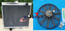 3 rows Aluminum Radiator+FAN for Ford XY XW 302 GS GT 351 cleveland 1969-1972 70