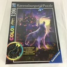 NEW Ravensburger Moon Wolf Color Starline Glow-in-The-Dark 1200 Piece Puzzle
