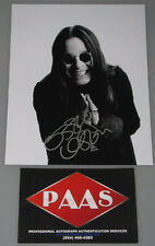 OZZY OSBOURNE  Hand Signed 8'x10' Photo + PAAS COA *Buy Genuine*