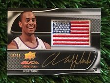 AARON AFFLALO 2008-09 UD BLACK USA FLAG PATCH SILVER AUTO INK #D /25 SSP