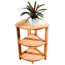 QUALITY 3 TIER CORNER SHELF STORAGE UNIT SIDE END TABLE BEDROOM CONSERVATORY