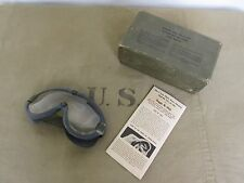 US Army Tanker Goggles M-1944 Fury Panzerbrille WK2 WWII D-Day Stock No 74-G-77
