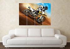 Grande Motocross Moto Cross Obstáculos Póster De Pared Arte Imagen Estampado