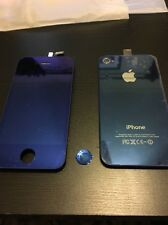 LCD Digitizer Touch Screen Front AND Back Fits Apple iPhone 4 *BLUE* Not OEM