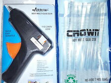 ARROW Professional Hot Glue Gun 40 W with Free 2 Small +20 CROWN Big Glue Sticks