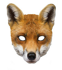 Fox Animal 2D Fête Carte Masque Visage Déguisement
