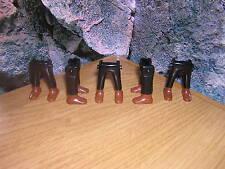 (a 13/3) 5 x piernas negro zapatos marrones garde soldados ACW Western