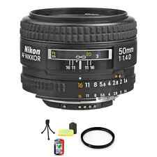 Nikon Nikkor 50 mm F/1.4D AF Lens + UV Filter & Cleaning Kit
