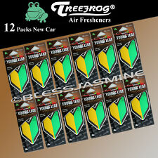 12 Pack Treefrog Wakaba Young Leaf New Car Hanging Air Freshener JDM Products