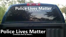 """Police Lives Matter Windshield Banner Decal / Sticker 5""""x40"""" thin blue line cops"""
