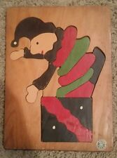 Judy Toys Wood Frame Board Puzzle Clown Jack-in-the-Box Vintage 1960's Retro