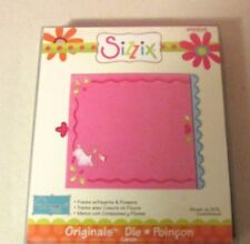 SIZZIX FRAME HEARTS AND FLOWERS DIE 655823 BRAND NEW FACTORY SEALED-