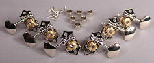 Grover Acoustic Guitar Sta-Tite Tuners w Butterbean Shaped Keys Nickel For