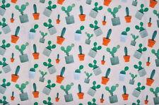 Deko Möbel Patchwork Stoffe Baumwolle Vorhang Gardine Kaktus Pflanze 1323/26