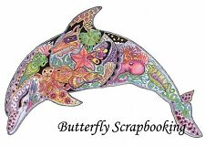 DOLPHIN Animal Spirit Cling Unmounted Rubber Stamp EARTH ART Sue Coccia New