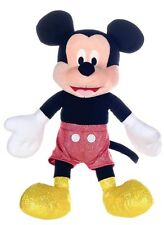 "NEW OFFICIAL DISNEY 12"" MICKEY MOUSE GLITTER PLUSH SOFT TOY"