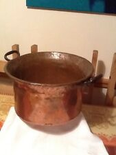 19th Century Heavy Duty 3.1KG Copper 2 Handled Cooking Pot