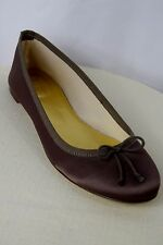 J CREW Marjorie Shimmery Satin Ballet Flats Made in Italy  Size 8 Soft Brown